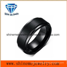 Professional Customized Black Plated Good Quality Tungsten Ring