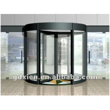 Puerta giratoria automática de cristal