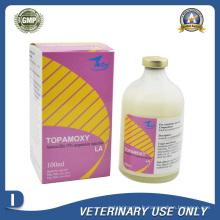 Médicaments vétérinaires de 15% Injection de suspension Amoxicillin (50ml 100ml)