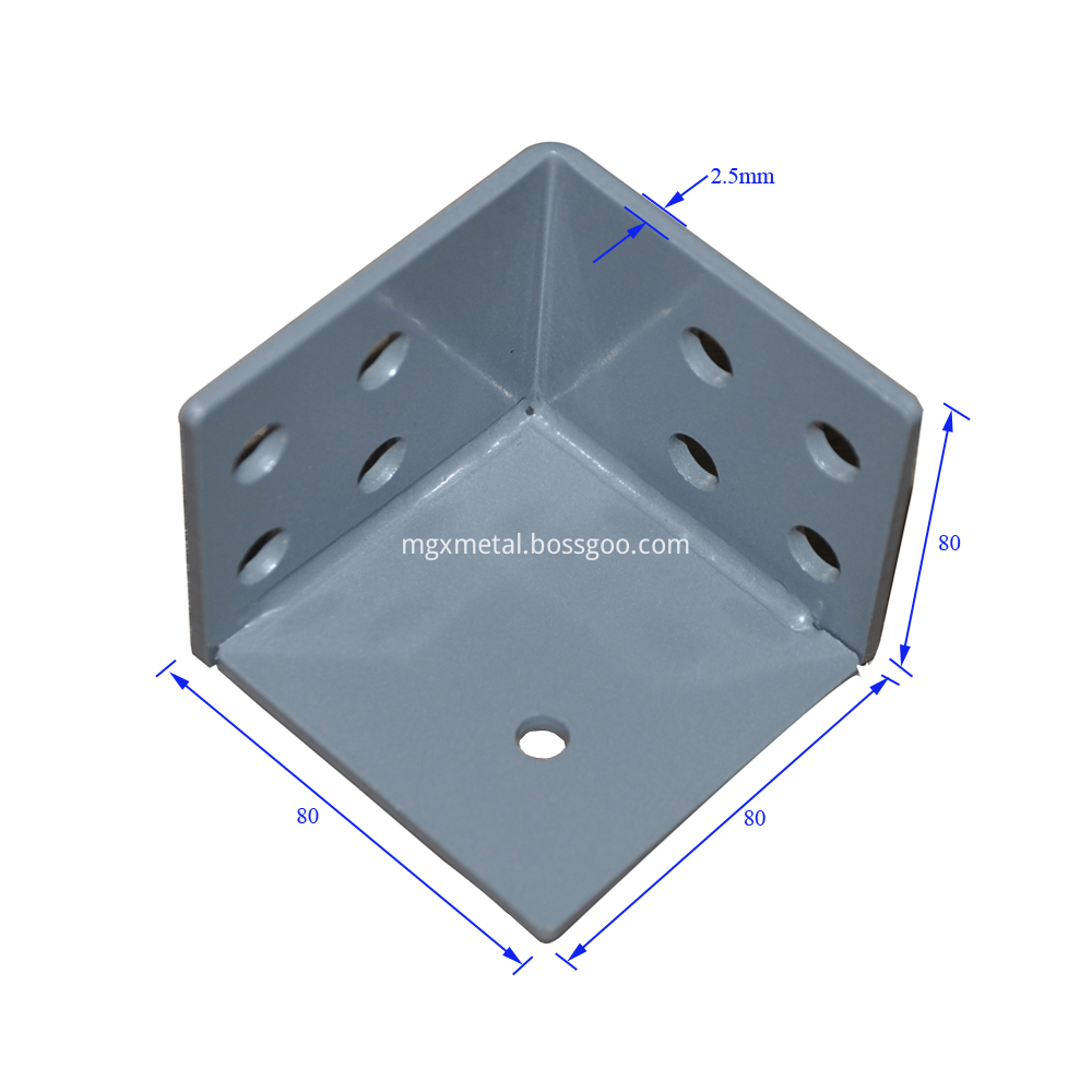 Scb0005 2 5mm Thick Steel Cubic 3 Way Corner Bracket Size