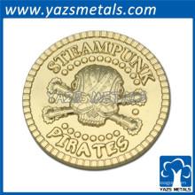 2015 regalos promocionales recuerdo moneda de oro, colección de monedas, moneda de fundición