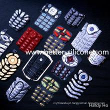 Plástico, keycap, silicone, borracha, teclado