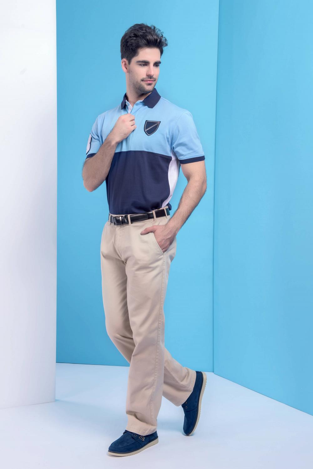 Men's poly cotton golfer polo