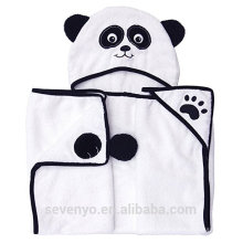 Serviette de bain pour bébé, 100% coton doux animal bébé à capuchon servietteBlanket Soft antibactérien organique, serviette hypoallergénique pour les nouveau-nés