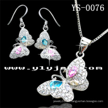 Colorido conjunto de joyas de plata para damas (YS-0076)