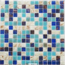 Carrelage mosaïque en verre bleu