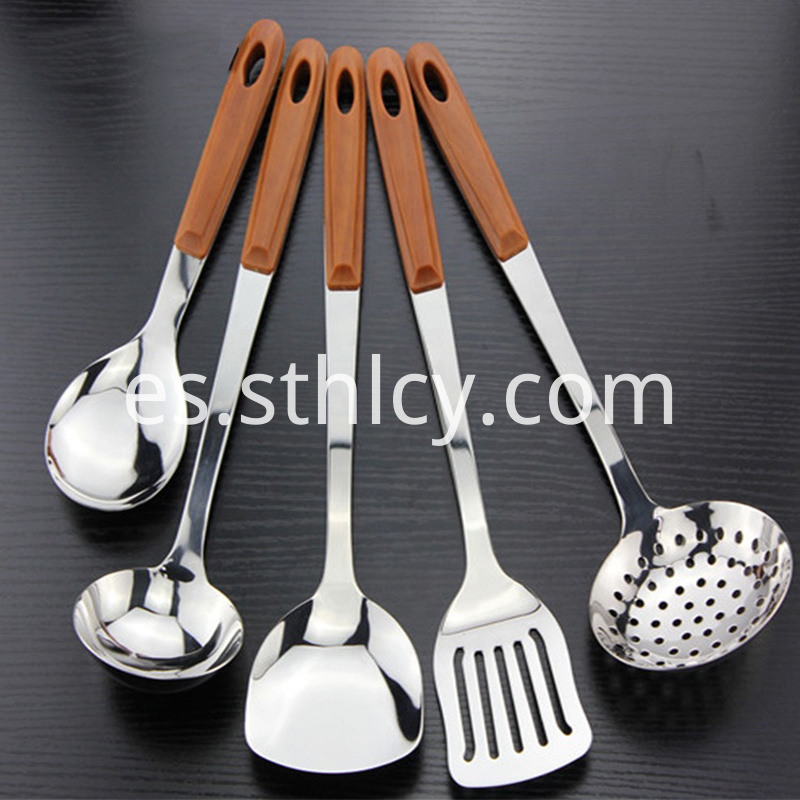 Five-piece stainless steel handle