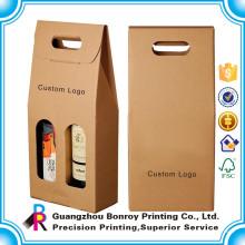 Embalagem de caixa de presente de vinho de tubo redondo de alta qualidade atacado