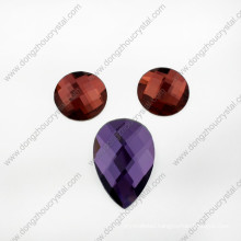 Hot Sale Fancy Colorful Decorative Round Glass Stone
