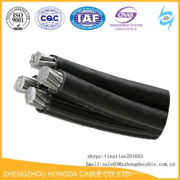 Linha de transmissão de energia dos cabos do pacote 0.6 / 1kv 33KV XLPE / PE ABC