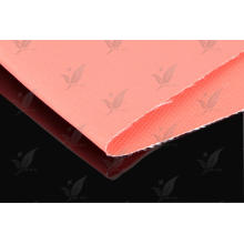 Double coté en tissu de fibre de verre revêtu de silicone rouge