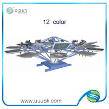 Manual 12 color rotary screen printing machine
