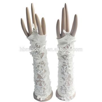 2017 new style beautiful Fashionable Fingerless wedding lace bridal gloves