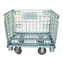 Moveable Steel Collapsible Storage Cage