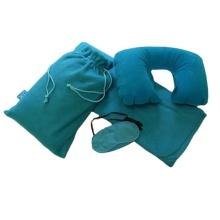 Blaue weiche bequeme Kissen-Reisekomfort-Decken-Kits
