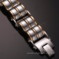 Mens jewelry 2016 chain bangle plated 316l stainless steel bracelet