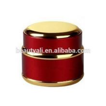 Стеклянный крем Jar косметики и золота Серебряная крышка алюминиевого стекла Jar
