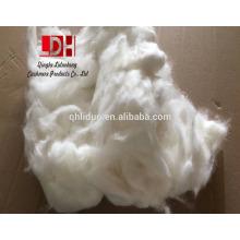 meilleures fibres de cheveux de lapin angora blanc de laine brute respectueux de l'environnement pour le fil de chandail