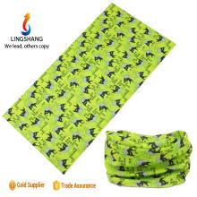 Lingshang magic multifunctional headwear bandana custom printing headband bandana polyester bike bandana