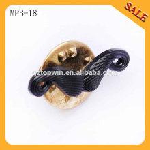 MPB18 vente en gros 3D en métal argenté épingles à épaulement, badigeon moulé sous pression, épinglette pour cravate