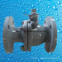 ANSI 150lb литой углеродистой стали Wcb фланец конце шаровой кран