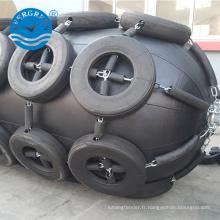 Vente chaude 3.3 mx 6.5 m Yokohama pneumatique pour expédier l'amortisseur en caoutchouc