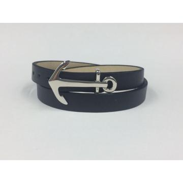 New Design Personalized Adjustment Leather Anchor Bracelet