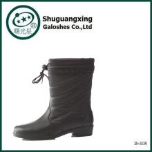 Зимняя обувь ПВХ дождя сапоги 2015 2014 Мода дамы зимние сапоги B-808