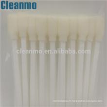 La grande écouvillon blanc de mousse de nettoyage badigeonne de haute qualité CM-FS707 (TX707A) écouvillons pour l'électronique, nettoyage optique