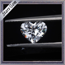6х6 мм в форме сердца бриллиант огранки белый цвет кубический цирконий камни для ювелирных изделий