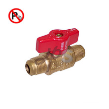 NSF free lead brass gas ball valve for USA market MXM thread