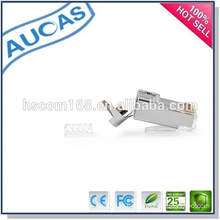 8p8c unshielded cat6 RJ45 UTP network connector/AMP modular jack gold plated plug