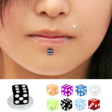 Mix Color UV Dice Magnetic Fake Labret