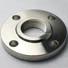 Bride filetée en acier inoxydable au carbone galvanisé ANSI B16.5