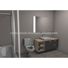 NEUE ANKUNFT Erschwingliche Design Badmöbel, grau Soft Touch aufgetaucht Melamin beschichtet Mdf Tür und Karkasse