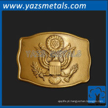 personalize fivela de cinto de metal, fivela de cinto presidencial de alta qualidade personalizada