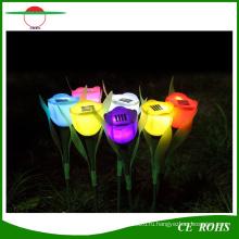 Солнечная красочный цветок Тюльпан приведенный в действие свет СИД декоративный сад солнечный свет лужайки