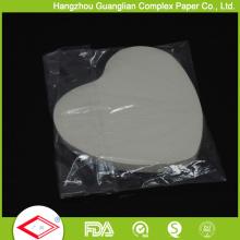 OEM Размер формы сердца лоток вкладыши антипригарным бумагу для выпечки