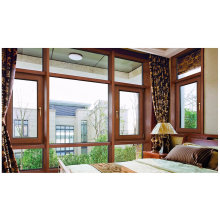 latest Design Double Tempered Glass Wood and Aluminum Casement Window