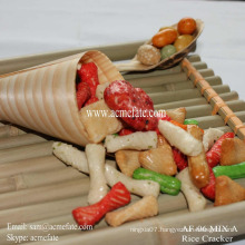 2015 new product rice cracker coated peanut mixed rice crackers