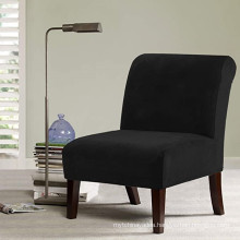 Velvet Accent Chair Covers Stretch Armless Chair Covers
