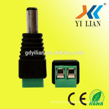 Coax CAT5 To CCTV Coaxial Camera BNC Male Video Balun Connector BNC connector DC Green power male connector