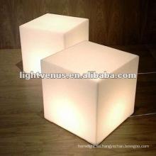 Mesa de cubo de LED competitiva de acrílico moderno