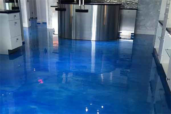 how to metallic epoxy floor