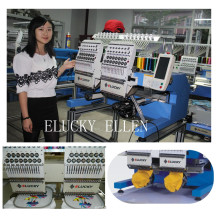 Elucky 2 Heads Embroidery Machine For Trading and Home Use