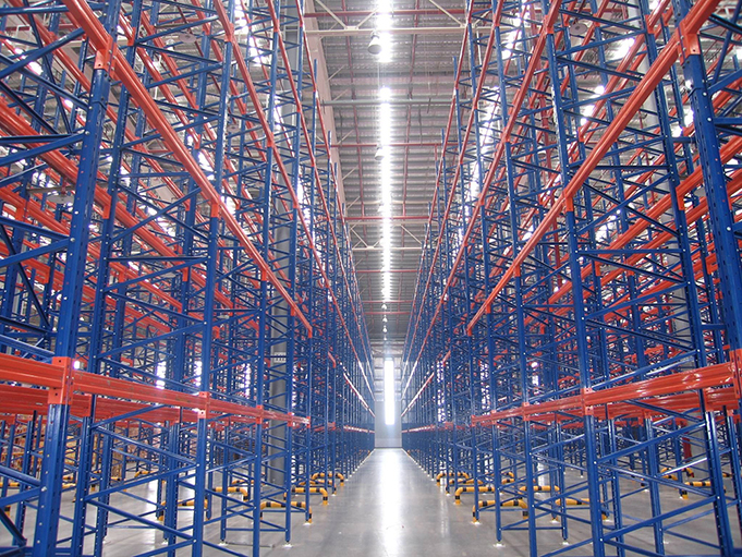 heavy warehouse shelves