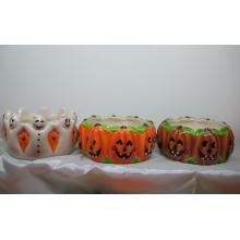 Tigela de abóbora de cerâmica para o Dia das Bruxas