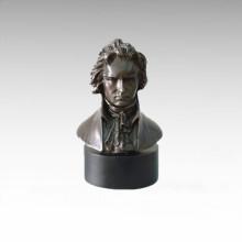 Busts Brass Statue Musician Chopin Decor Bronze Sculpture Tpy-798