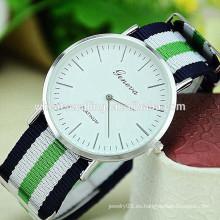 2015 reloj más nuevo de la tela militar de Ginebra del diseño
