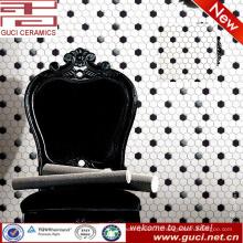 Китай белый поставка и черный Шестиугольная керамическая плитка кухня плитки мозаики